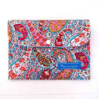 リバティ パスポートケース/お薬手帳ケース ボートン/ブルー「ミニマルマルチ2019」
