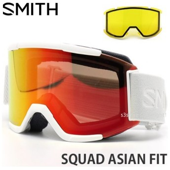 19model スミス スカッド アジアンフィット SMITH SQUAD ASIAN FIT カラー:WHITE VAPOR レンズカラー:CHROMAPOP EVERYDAY RED MIRROR