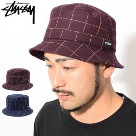 ステューシー バケット ハット STUSSY Window Pane Bucket Hat 帽子(stussyhat メンズ・男性用 132886 USAモデル 正規)