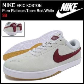 ナイキ NIKE スニーカー エリック コストン Pure Platinum/Team Red/White SB メンズ(男性用) (nike ERIC KOSTON SB Sneaker 442476-062)