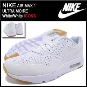ナイキ NIKE スニーカー エア マックス 1 ウルトラ モアレ White/White 限定 メンズ(男性用) (AIR MAX 1 ULTRA MOIRE ICONS 705297-111)