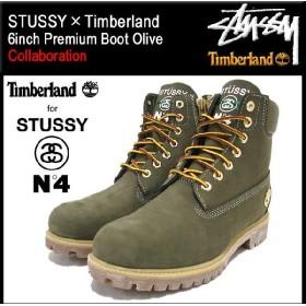 ステューシー STUSSY×Timberland 6インチ プレミアム ブーツ オリーブ コラボ メンズ(ティンバーランド 6inch Premium Boot Olive 138283)