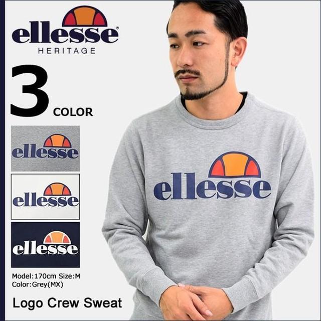 エレッセ ヘリテージ ellesse HERITAGE トレーナー メンズ ロゴ クルー スウェット(EE37100 Logo Crew Sweat トップス 男性用)