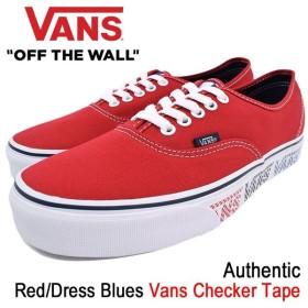 バンズ VANS スニーカー メンズ 男性用 オーセンティック Red/Dress Blues バンズ チェッカー テープ(VN-0A38EMMQP Authentic Checker Tape)
