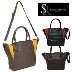 サンドラロバート Sondra Roberts ベター&ベスト ジッパーバッグ Zipper Detail Shopper
