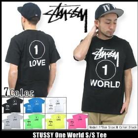 ステューシー STUSSY One World Tシャツ 半袖(stussy tee ティーシャツ T-SHIRTS トップス メンズ・男性用 1903239)