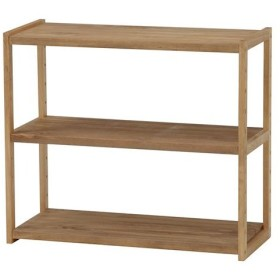 オープンシェルフ 木製 木製ラック 幅75cm 高さ65cm ライトブラウン 3段 ラック 収納棚 棚 シェルフ 本棚 オープンラック