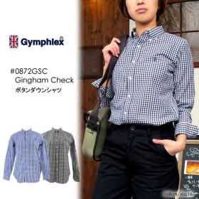 GYMPHLEX(ジムフレックス) ボタンダウンシャツ ギンガムチェック コットン J-0872GSC 〔SK〕