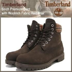 ティンバーランド Timberland 6インチ プレミアム ウールリッチ レッドブリアヌバック ブーツ(timberland 44524 Boot Woolrich Red Briar ブラウン)