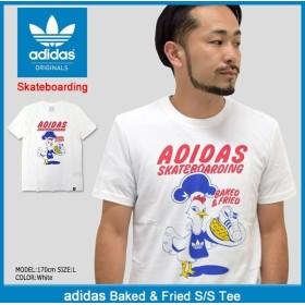 アディダス adidas Tシャツ 半袖 メンズ ベイクド アンド フライド オリジナルス(Baked & Fried S/S Tee Originals Skateboarding BR4953)