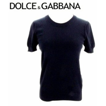 ドルチェ&ガッバーナ DOLCE&GABBANA ニット 服 ラウンドネック セーター レディース パフ袖 【中古】 C3272