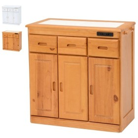 キッチンカウンター【MUD-6521NA/WS】キッチンカウンター カウンターテーブル 食器棚