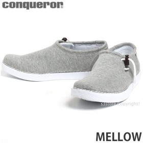 コンカラー メロー メンズ スニーカー conqueror MELLOW 超軽量 コンフォートシューズ IPRソール 高反発 耐摩耗性 高機能インソール サーフ カラー:GRAY