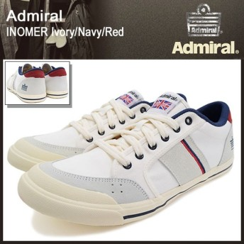 アドミラル Admiral スニーカー イノマー アイボリー/ネイビー/レッド メンズ 男性用(ADMIRAL inomer ivory/navy/red SJAD1509-341004)