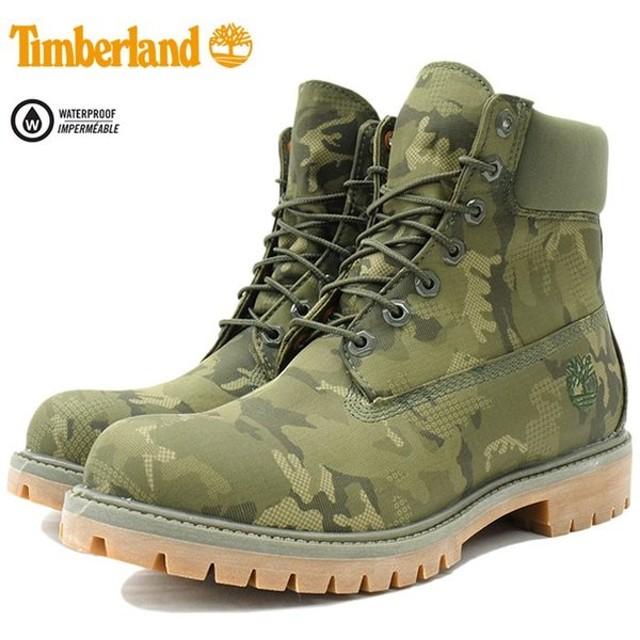 ティンバーランド ブーツ 日本正規品 Timberland メンズ 男性用 6インチ プレミアム ファブリック Dark Green Ripstop(A1U9I 6inch Boot)