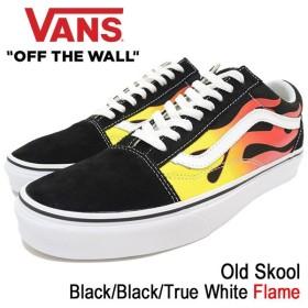 バンズ VANS スニーカー メンズ 男性用 オールドスクール Black/Black/True White フレーム(vans VN-0A38G1PHN Old Skool Flame)