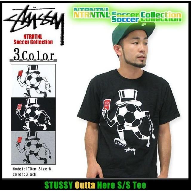 ステューシー STUSSY Outta Here Tシャツ 半袖 NTRNTNL サッカー コレクション(stussy tee トップス 限定 メンズ・男性用 3902665)