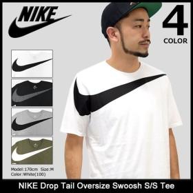 ナイキ NIKE Tシャツ 半袖 メンズ ドロップ テール オーバーサイズ スウッシュ(Drop Tail Oversize Swoosh S/S Tee 男性用 856491)