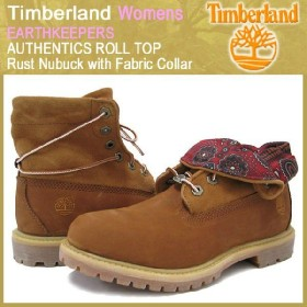 ティンバーランド Timberland ウーマンズ ブーツ アースキーパーズ ロールトップ ラストヌバック ウィズ ファブリックカラー(8260A)