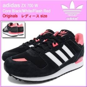 アディダス adidas スニーカー レディース ZX 700 W Core Black/White/Flash Red オリジナルス(adidas ZX 700 W Originals M19412)