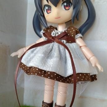 オビツ11 服 メイド服風ワンピース(茶色)