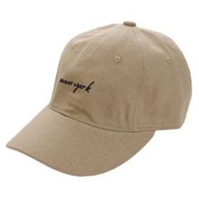 【Super Sports XEBIO & mall店:帽子】リネン刺繍 キャップ nwe york 897PA9ST1687 BEG