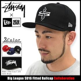 ステューシー STUSSY キャップ 帽子 ニューエラ Big League SU16 コラボ(STUSSY×NEW ERA Fitted Cap Wネーム メンズ・男性用 131598)