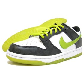 NIKE(ナイキ) DUNK LOW GS White/Cactus/Black Halloween