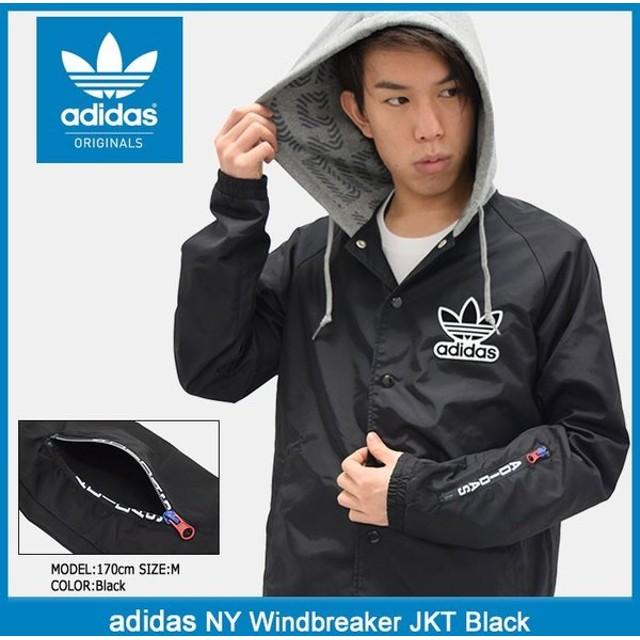 アディダス adidas ジャケット メンズ NY ウィンドブレーカー ブラック オリジナルス(NY Windbreaker JKT Black Originals 男性用 BQ0905)