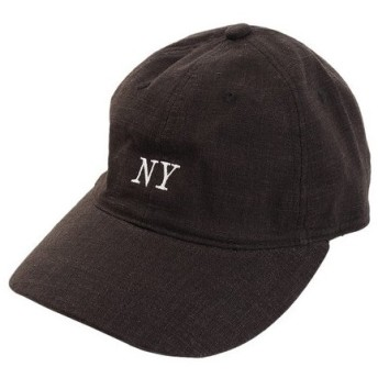PGAC(PGAC) リネン刺繍 NY キャップ 897PA9ST1673 BLK (Men's)