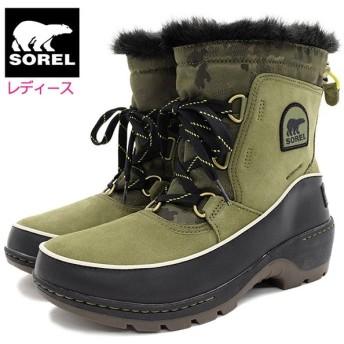 ソレル ブーツ SOREL レディース 女性用 ティボリ 3 Hiker Green/Black ウィメンズ(TIVOLI III WOMENS 防水 スノー・ブーツ NL3077-371)
