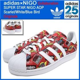 アディダス オリジナルス×NIGO adidas Originals by NIGO スニーカー メンズ スーパースター ニゴー AOP Scarlet/White/Blue Bird (S83388)