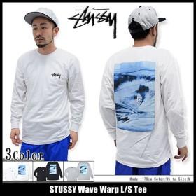 ステューシー STUSSY Tシャツ 長袖 メンズ Wave Warp(stussy tee カットソー トップス ロンt 男性用 1993829)
