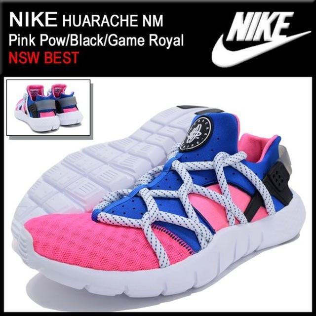 ナイキ NIKE スニーカー ハラチ NM Pink Pow/Black/Game Royal 限定 メンズ(男性用) (nike HUARACHE NM NSW BEST 705159-600)