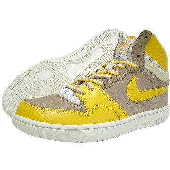 NIKE(ナイキ)×STUSSY COURT FORCE HI Bone/Varsity Maize 25周年記念