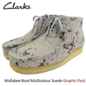 クラークス CLARKS ブーツ メンズ 男性用 ワラビー マルチカラー スエード グラフィックパック(Wallabee Boot Multicolour Suede 26118580)