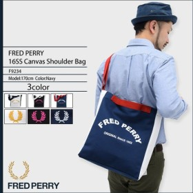 フレッドペリー FRED PERRY ショルダーバッグ 16SS キャンバス ショルダー バッグ 日本企画(F9234 16SS Canvas Shoulder Bag メンズ)