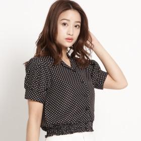 シャツ - WEGO【WOMEN】 ドットクロップドシャツ BR18SM05-L007