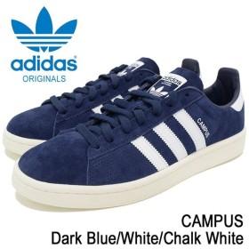 アディダス adidas スニーカー メンズ 男性用 キャンパス Dark Blue/White/Chalk White オリジナルス(adidas CAMPUS Originals BZ0086)
