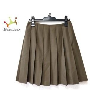 トゥモローランド TOMORROWLAND スカート サイズ38 M レディース 美品 カーキ プリーツ スペシャル特価 20190912