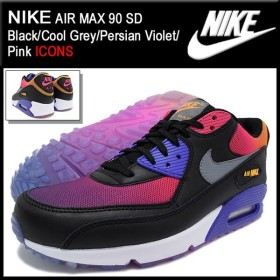 ナイキ NIKE スニーカー エア マックス 90 SD Black/Cool Grey/Persian Violet/Pink 限定 メンズ(男性用) (AIR MAX 90 SD ICONS 724763-005)