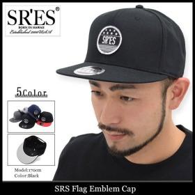 エスアールエス SRES キャップ メンズ フラッグ エンブレム(SRS Flag Emblem Cap スナップバックキャップ 帽子)