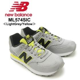 ニュー バランス New Balance  ML574 574 Summer Waves ランニング スニーカー ML574SIC Light Grey with Yellow  シューズ メンズ 男性用[CC]