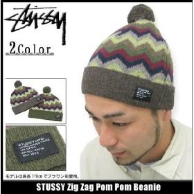 ステューシー STUSSY ビーニー Zig Zag Pom Pom ビーニー(stussy Stussy beanie ニット帽 メンズ ニットキャップ 132484)