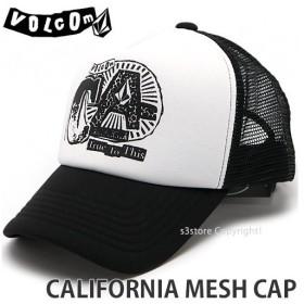 ボルコム カルフォルニア メッシュ キャップ VOLCOM CALIFORNIA MESH CAP スケートボード スケボー 帽子 カラー:Black サイズ:O/S