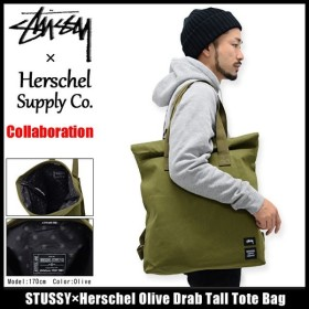 ステューシー STUSSY トートバッグ Herschel Olive Drab Tall コラボ(STUSSY×Herschel tote bag メンズ レディース 134138 小物)