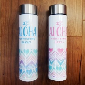 【HALEIWA HAPPY MARKET 耐熱ボトル】ハート柄・ブルー・ピンク/ステンレス・マグボトル 500ml/水筒・魔法瓶・タンブラー