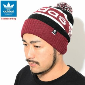 アディダス ニット帽 adidas ポンポン ビーニー(Pom Pom Beanie Originals Skateboarding ボンボン 帽子 ニットキャップ DH2574)