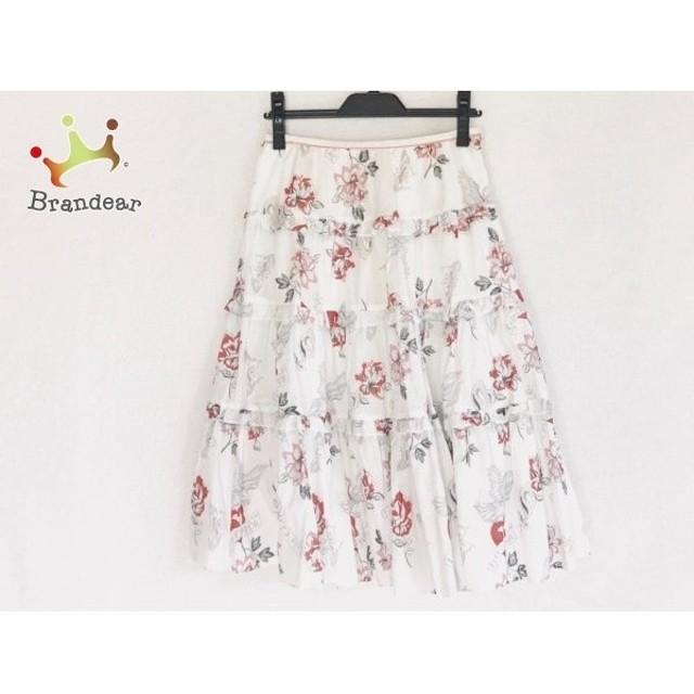 ロイスクレヨン Lois CRAYON スカート サイズM レディース 白×レッド×マルチ   スペシャル特価 20190913