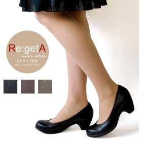 リゲッタ Re:getA R-1803  ストラップ付きヒールパンプス(6cmヒール)